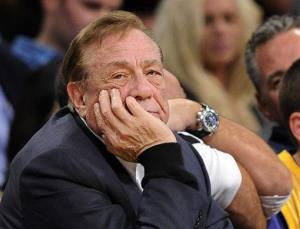 Los Angeles Clippers owner Donald Sterling looks on during a game against the Lakers.