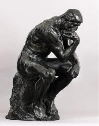 The famous Auguste Rodin sculpture, The Thinker.