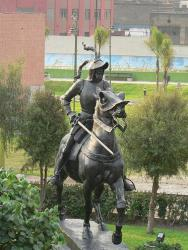 Statue of Francisco Pizarro, Lima, Peru.