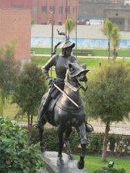 Statue of Francisco Pizarro, Lima, Peru.