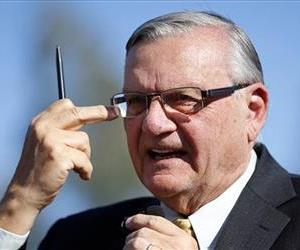 Maricopa County Sheriff Joe Arpaio speaks at a news conference in Sun City, Ariz., in April.
