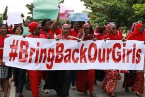 Women attend a demonstration in Abuja, Nigeria, in this file photo.