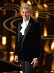 Ellen DeGeneres hosts the Oscars at the Dolby Theatre on March 2, 2014, in Los Angeles.