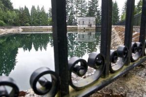 A city reservoir in Portland, Ore.