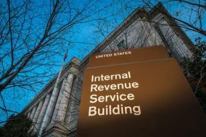This file photo shows the headquarters of the IRS in Washington.
