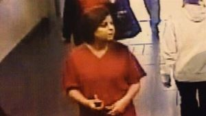 Police released this photo of the fake nurse after the newborn was kidnapped.