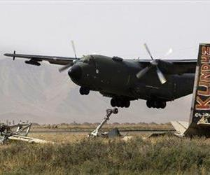 This 2008 file photo shows a German Army Transall military aircraft taking off from an airfield on the outskirts of Kunduz, northern Afghanistan.