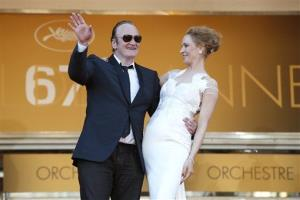 Director Quentin Tarantino and actress Uma Thurman for the awards ceremony at the 67th international film festival, Cannes, southern France, Saturday, May 24, 2014.