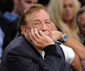 In this Feb. 25, 2011, file photo, Los Angeles Clippers owner Donald Sterling looks on during a game about the Lakers.