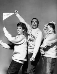Ann B. Davis, left, John Forsythe and Elsa Lanchester are shown in The John Forsythe Show in 1965.