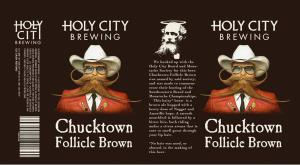 The Chucktown Follicle Brown label.