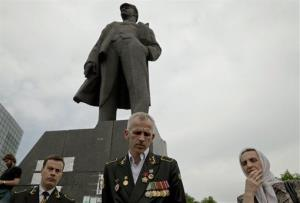 The candy catastrophe took place in Lenin Square, in Donetsk, Ukraine.