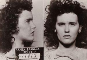 A mugshot taken of Elizabeth Short, the Black Dahlia, by Santa Barbara police in 1943 for underage drinking.