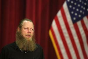 Bob Bergdahl, addresses his son U.S. Army Sgt. Bowe Bergdahl, during a press conference at Gowen Field on Sunday, June 1, 2014, in Boise, Idaho.