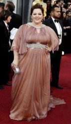 Melissa McCarthy arrives before the 84th Academy Awards on Sunday, Feb. 26, 2012, in the Hollywood section of Los Angeles.