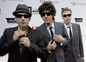 This 2007 file photo shows The Beastie Boys, from left, Adam Horovitz (Ad-Rock),  Michael Diamond (Mike D) and Bassist Adam Yauch (MCA). Yauch has since died.