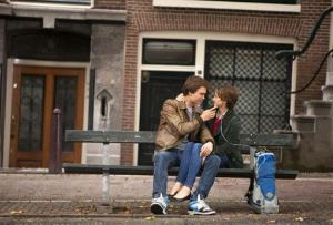 This image released by 20th Century Fox shows Ansel Elgort, left, and Shailene Woodley in a scene from The Fault In Our Stars.