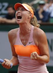 Russia's Maria Sharapova during the final match.