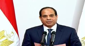 Egyptian President Abdel-Fattah el-Sissi gives a speech at the Supreme Constitutional Court in Cairo, Egypt, Sunday, June 8, 2014.
