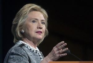 Former Secretary of State Hillary Rodham Clinton speaks in Washington last month.