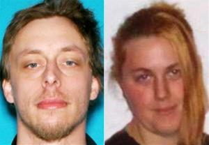 These photos provided by the Las Vegas Metropolitan Police Department shows Jerad Miller, left, and his wife, Amanda Miller.