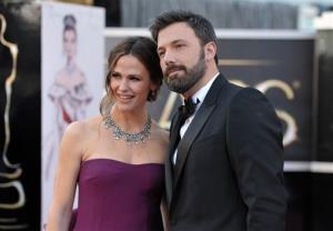 Actors Jennifer Garner, left, and Ben Affleck arrive at the Oscars at the Dolby Theatre on Sunday Feb. 24, 2013, in Los Angeles.