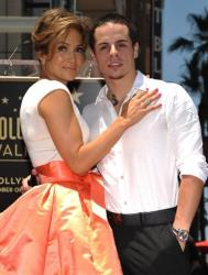 Jennifer Lopez, left, and Beau Casper Smart pose with her new star on the Hollywood Walk of Fame on Thursday, June 20, 2013, in Los Angeles.