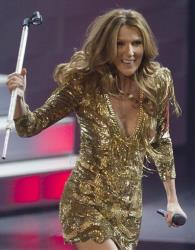 Celine Dion sings her last number during her opening night performance at Caesar's Palace, Tuesday, March 15, 2011, in Las Vegas.