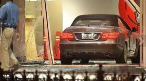 The vehicle crashed through the lobby entrance of CNN headquarters in Atlanta.