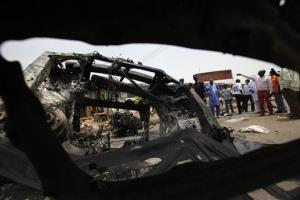 This photo is from May 21 at another bombing in Nigeria, in the central city of Jos.