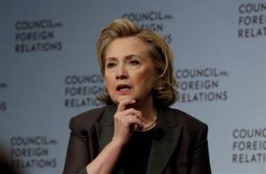 "Hillary Clinton participates in a conversation about her career in government and her new book, Hard Choices., at the Council on Foreign Relations, in New York, Thursday, June 12, 2014. Clinton says what is happening in Iraq is ""a dreadful, deteriorating situation.""  The former secretary of state and potential 2016..."