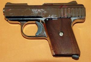 Wagoner claimed to have taken this gun from his attackers in February this year.