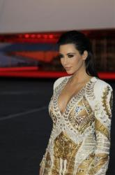 Television personality Kim Kardashian arrives for the screening of Cruel Summer at the 65th international film festival, in Cannes, southern France, Wednesday, May 23, 2012.