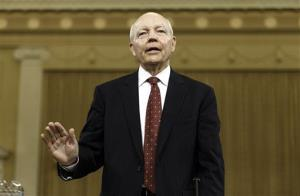 Internal Revenue Service Commissioner John Koskinen is sworn in on Capitol Hill Friday.