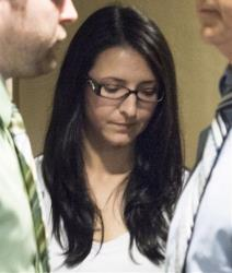 Emma Czornobaj is pictured in court in Montreal.