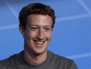 This Feb. 24, 2014 file photo shows Facebook Chairman and CEO Mark Zuckerberg during a conference in Barcelona, Spain.