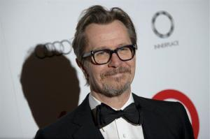 British actor Gary Oldman arrives for The London Critics Circle Awards, in London, Sunday, Feb. 2, 2014.