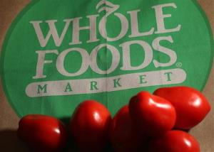 In this Monday, July 29, 2013,  file photo, produce is placed on Whole Foods paper bag in Andover, Mass.