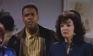 Meshach Taylor and co-star Dixie Carter in Designing Women.