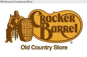 A Cracker Barrel sign.