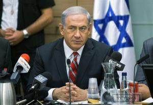 Israeli Prime Minister Benjamin Netanyahu speaks during a Foreign Affairs Committee meeting, at the Knesset, Israel's parliament, Monday, June 30, 2014.