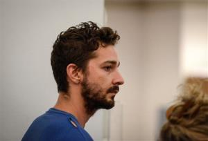 Shia LaBeouf, represented by a Legal Aid attorney, is arraigned in Midtown Community Court, in New York, Friday, June 27, 2014.