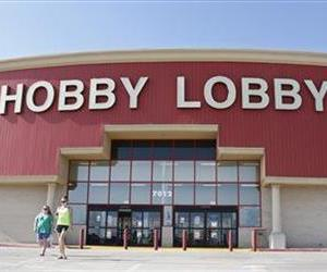 Customers leave a Hobby Lobby store in Oklahoma City, Monday, June 30, 2014.
