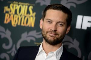 Tobey Maguire arrives at the LA Premiere screening of The Spoils of Babylon at the DGA Theater on Tueday, Jan. 7, 2014 in Los Angeles.