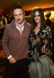 This Feb. 6, 2013 file photo shows actor David Arquette, left, and Christina McLarty at the opening night of The Gift at the Geffen Playhouse in Westwood, Calif.