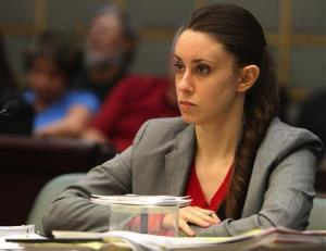 In this March 3, 2011 photo, Casey Anthony listens to testimony during the last day of hearings during her murder trial in Orlando, Fla.