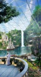 This image provided by Dubai Holding on Saturday July 5, 2014, shows an artist rendition of their planned Mall of the World project that will include an 8 million square foot (743,224 square meter) mall, a climate-controlled street network, a theme park covered during the scorching summer months and...