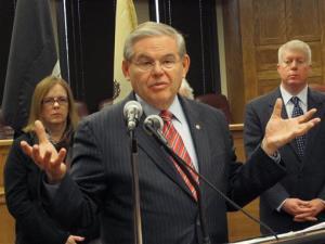 US Sen. Robert Menendez speaks at a a public hearing on Jan. 2, 2014.