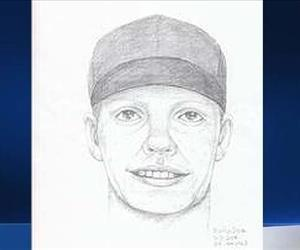 The robber is described as a Hispanic man in his late 20s to early 30s, roughly 5 feet 10 inches tall, and wearing a white tank top, light jeans, and black baseball hat.