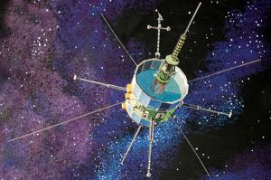 An artist's rendition of the International Sun-Earth Explorer-3 (ISEE-3) spacecraft.